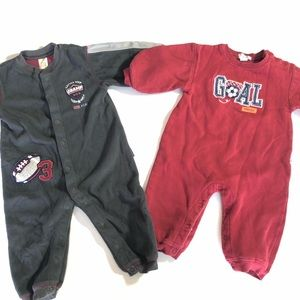 12 Month CARTERS Baby Boy Winter Rompers Clothes